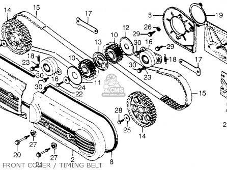 Honda Gl1000 Goldwing 1977 Usa parts list partsmanual