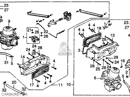 Honda GL1000 GOLDWING 1978 USA parts lists and schematics