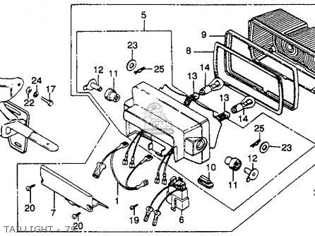 Honda GL1000 GOLDWING 1979 (Z) USA parts lists and schematics