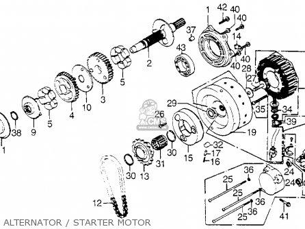 Honda GL1000 GOLDWING LTD 1976 USA parts lists and schematics