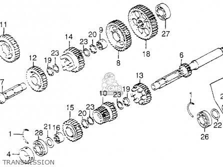 Honda Gl1000 Ltd Gold Wing Ltd 1976 Usa parts list