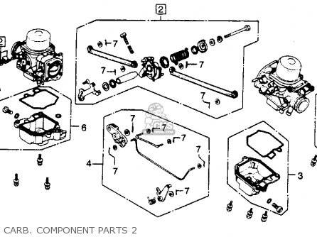 Honda Gl1100 Gold Wing 1981 Usa parts list partsmanual