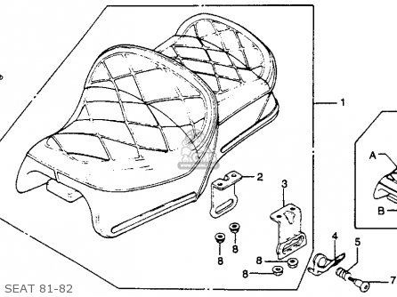 Honda Gl1100 Gold Wing 1982 Usa parts list partsmanual