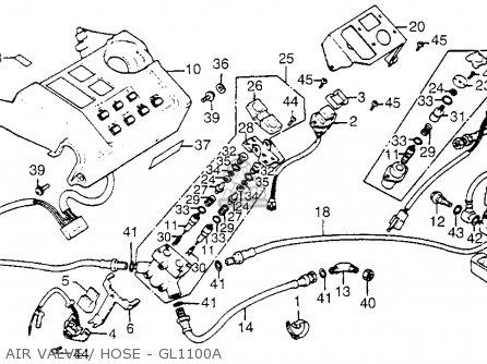 Honda Gl1100 Gold Wing 1983 Usa parts list partsmanual