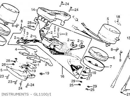 Honda Gl1100 Gold Wing Aspencade 1983 Usa parts list
