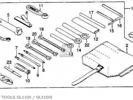 Honda GL1100 GOLDWING 1980 (A) USA parts lists and schematics