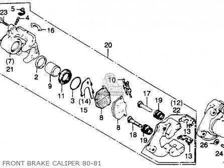 Honda Gl1100 Goldwing 1981 (b) Usa parts list partsmanual