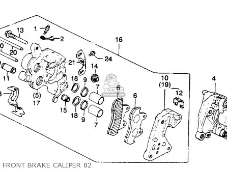Honda Gl1100 Goldwing 1982 (c) Usa parts list partsmanual
