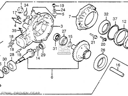 Honda GL1100 GOLDWING 1983 (D) USA parts lists and schematics