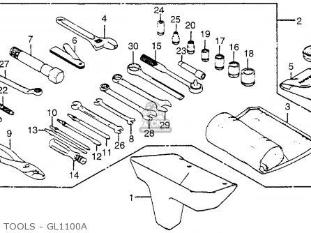 Honda Gl1100 Goldwing 1983 (d) Usa parts list partsmanual