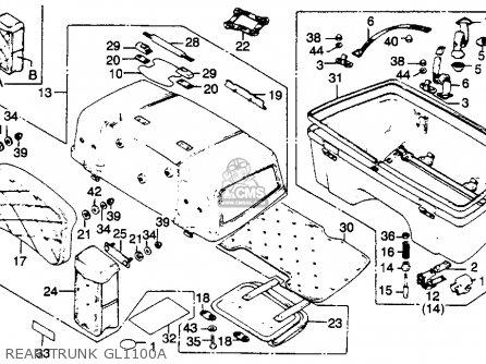 Honda Gl1100a Gold Wing Aspencade 1982 (c) Usa parts list