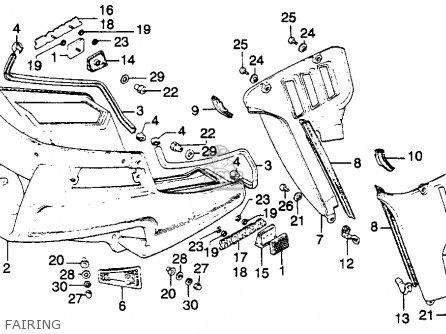 Honda Gl1100a Gold Wing Aspencade 1982 Usa parts list