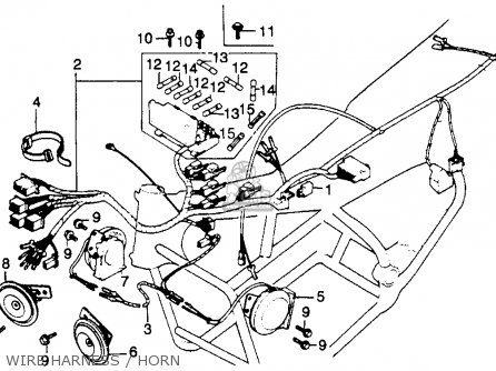 Honda Gl1100a Gold Wing Aspencade 1982 Usa Wire Harness Horn