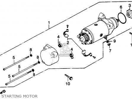 Honda GL1100A GOLDWING ASPENCADE 1982 (C) USA parts lists