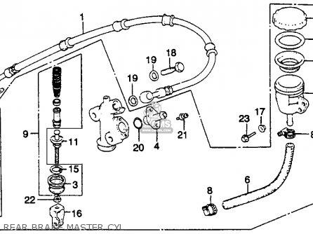 Honda Gl1100i Gold Wing Interstate 1983 Usa Rear Brake