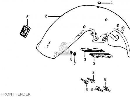 Honda Gl1100i Gold Wing Interstate 1983 Usa parts list