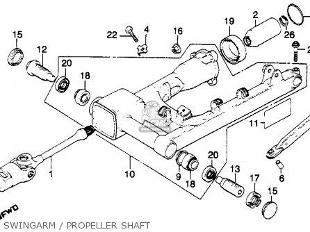 Honda GL1100I GOLDWING INTERSTATE 1981 (B) USA parts lists