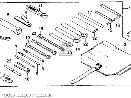 Honda GL1100I GOLDWING INTERSTATE 1982 (C) USA parts lists