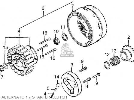 Honda Gl1200 Gold Wing 1984 Usa parts list partsmanual
