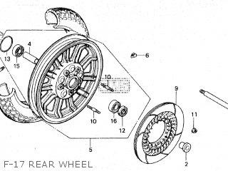 Honda GL1200 GOLDWING 1984 (E) parts lists and schematics