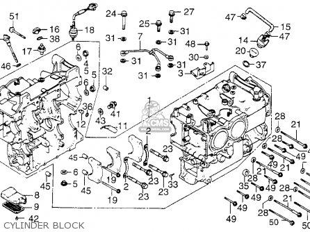 Honda Gl1200 Goldwing 1984 (e) Usa California parts list