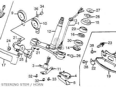 Honda GL1200 GOLDWING 1984 (E) USA CALIFORNIA parts lists