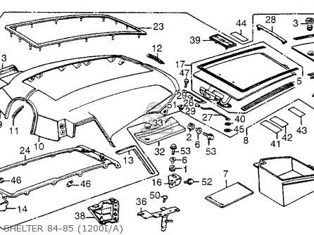 Honda Gl1200a Gold Wing Aspencade 1985 Usa Parts List