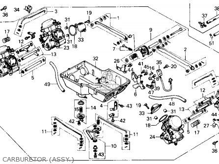 Honda Gl1200a Gold Wing Aspencade 1986 Usa parts list
