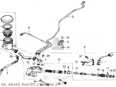 Honda Gl1200a Gold Wing Aspencade 1987 Usa parts list