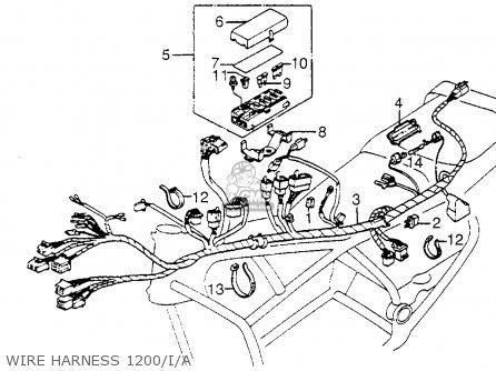 Honda GL1200A GOLDWING ASPENCADE 1984 (E) USA CALIFORNIA