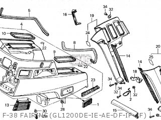 Honda GL1200A GOLDWING ASPENCADE 1985 (F) parts lists and
