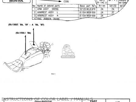 Honda Gl1200a Goldwing Aspencade 1986 (g) Usa California