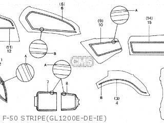 Honda GL1200D GOLDWING 1984 (E) parts lists and schematics