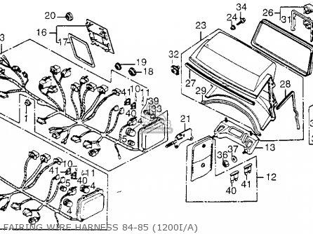 Honda Gl1200i Gold Wing Aspencade 1984 Usa parts list