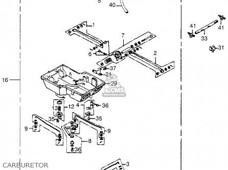 Honda Gl1200i Gold Wing Interstate 1985 Usa parts list