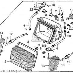 Honda Goldwing 1200 Wiring Diagram 2005 F150 4x4 Gl1200i Aspencade 1984 E Usa California Parts Lists Headlight 84 85 1200i Al