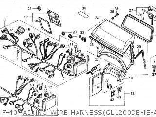 Honda GL1200I GOLDWING INTERSTATE 1985 (F) parts lists and