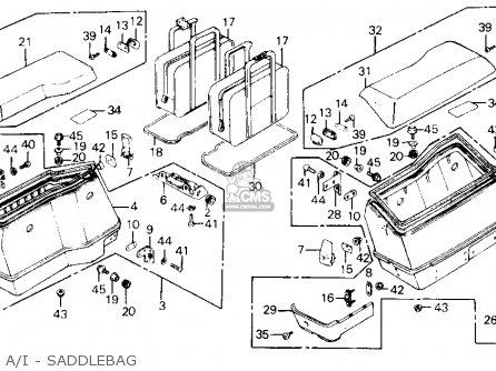 Honda Gl1200i Goldwing Interstate 1986 (g) Usa parts list
