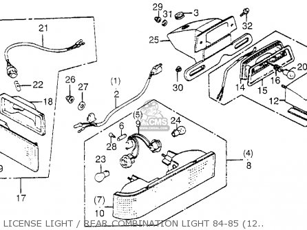 Wiring Diagram 1985 Honda Goldwing 1200a 1985 Honda