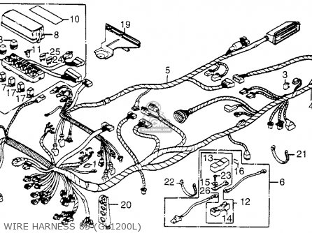 1985 Honda Goldwing 1200 Parts. Honda. Wiring Diagram Images