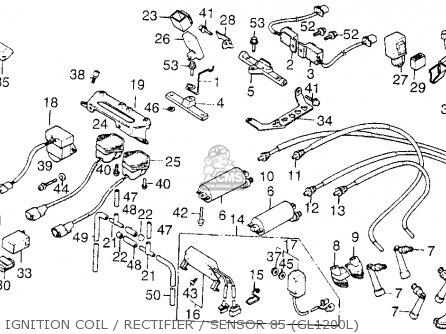 Honda Gl1200l Goldwing Ltd 1985 (f) Usa parts list