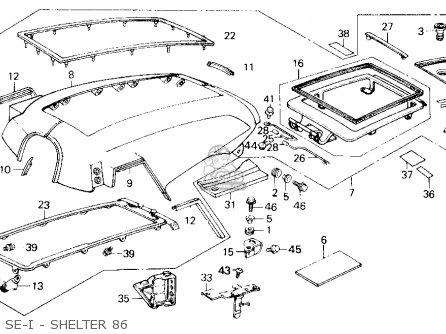 Honda Gl1200sei Goldwing Aspencade 1986 (g) Usa California