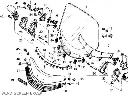 Honda Gl1500 Gold Wing 1989 Usa parts list partsmanual
