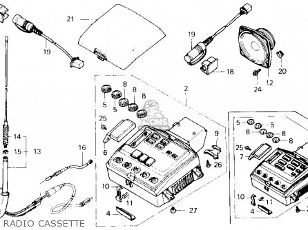 Honda Gl1500 Gold Wing 1990 Usa parts list partsmanual