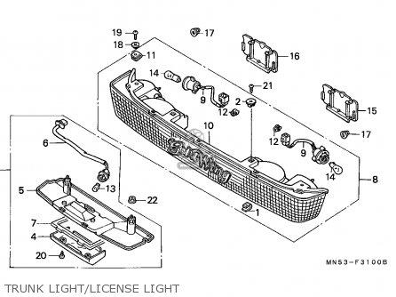 Honda Gl1500 Goldwing 1988 Finland / Kph parts list
