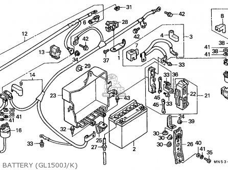 Honda Gl1500 Goldwing 1988 (j) England / Mkh parts list