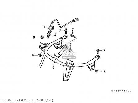 Honda GL1500 GOLDWING 1988 (J) ENGLAND / MKH parts lists