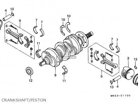 Honda Gl1500 Goldwing 1988 (j) France / Kph Yb parts list