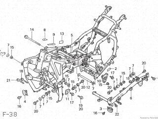 Honda GL1500 GOLDWING 1988 (J) JAPAN SC22-100 parts lists