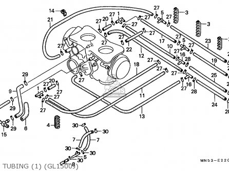 Honda Gl1500 Goldwing 1988 (j) Spain / Kph parts list